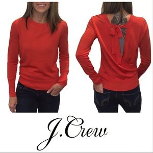 J. Crew Wrapped Back Pullover in Merino Wool Small